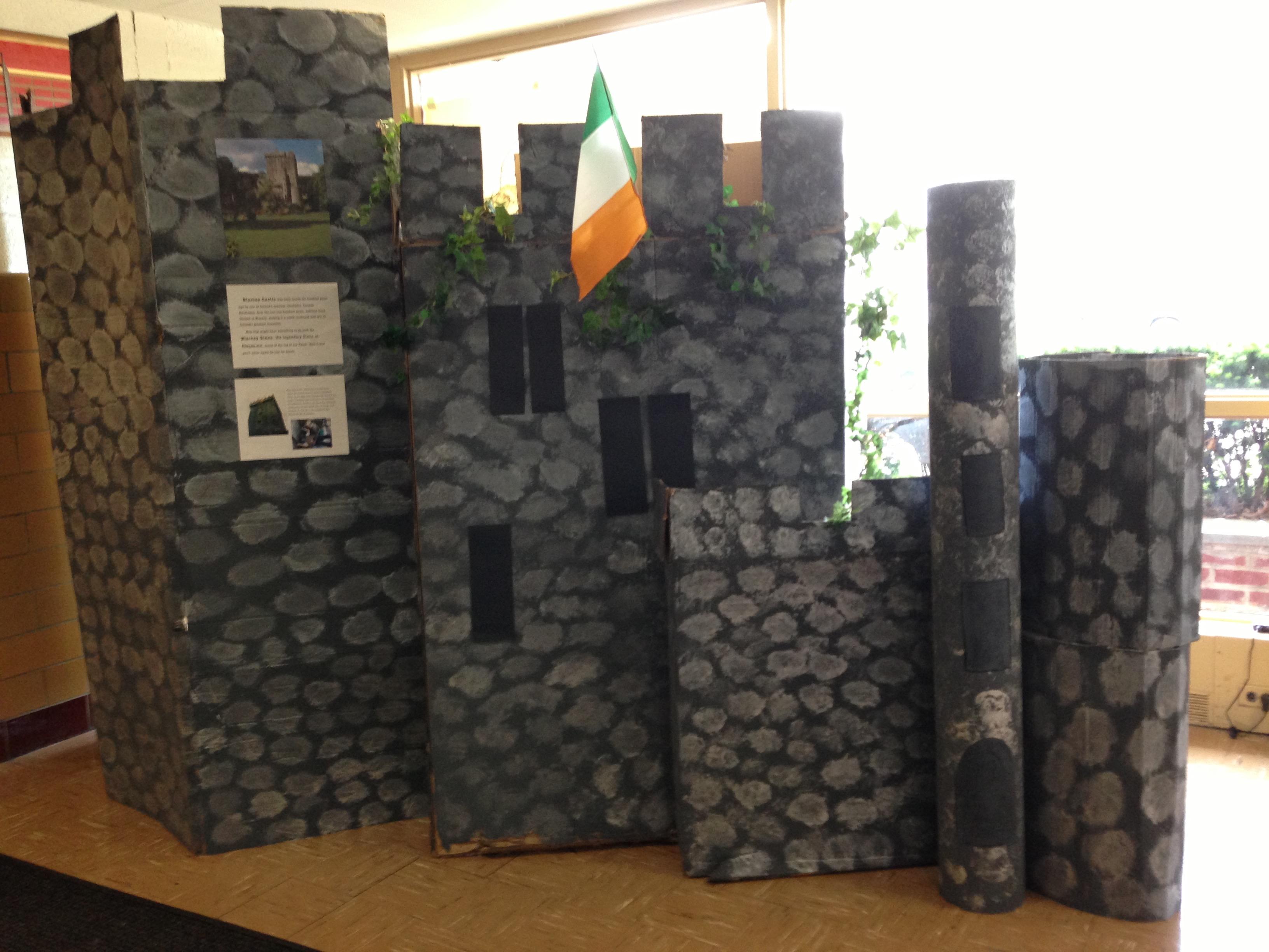 homemade cardboard Blarney Castle | creative ways to teach children about Ireland