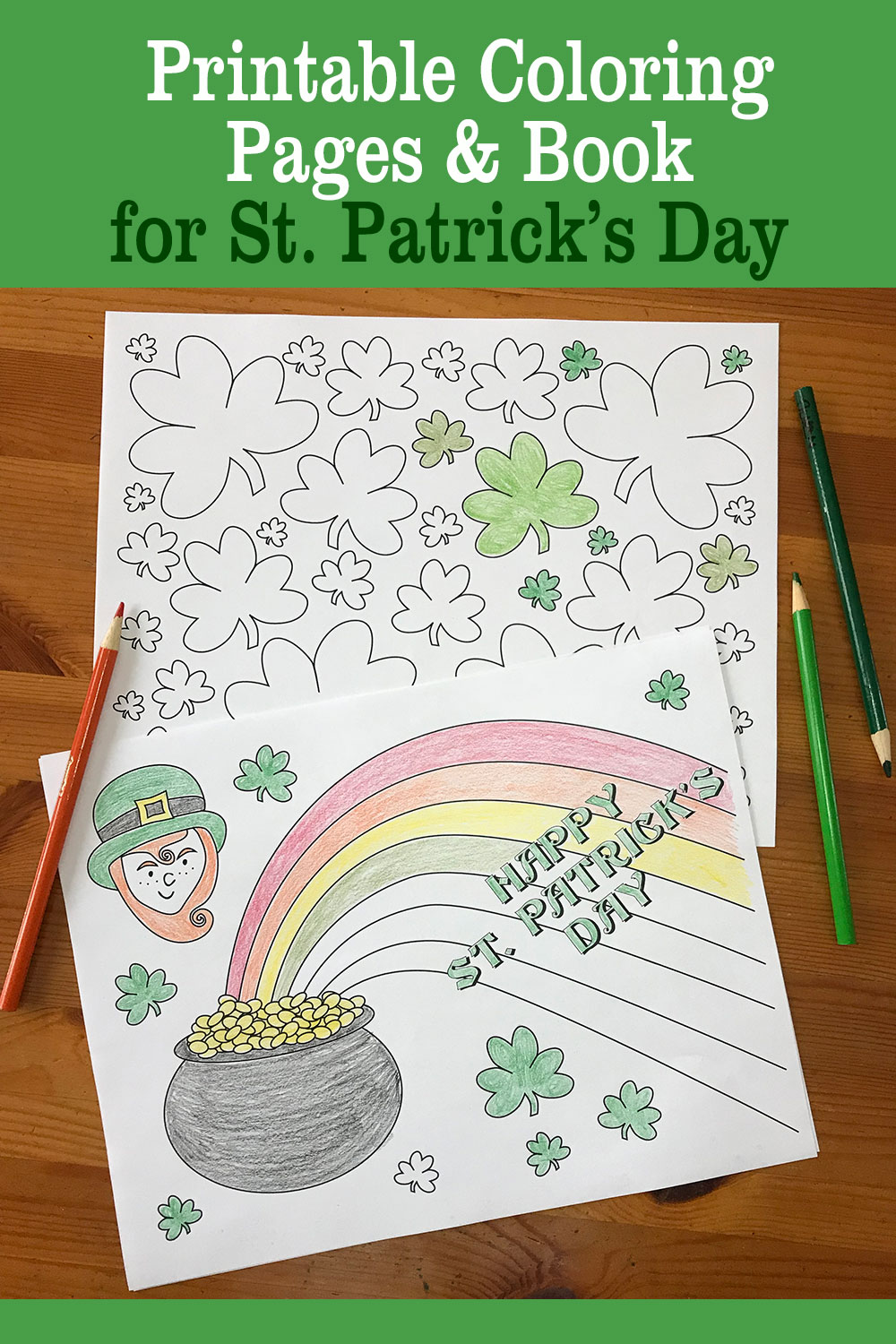Printable St Patrick S Day Coloring Pages And Book