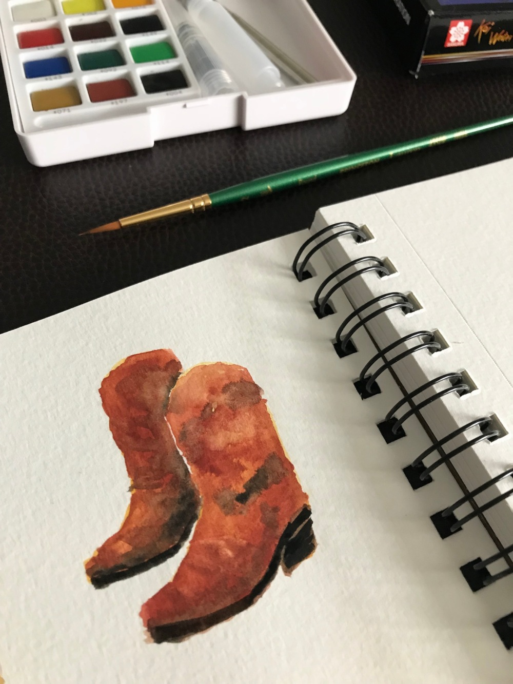 Illustrated Map Making in Nashville Cowboy boots