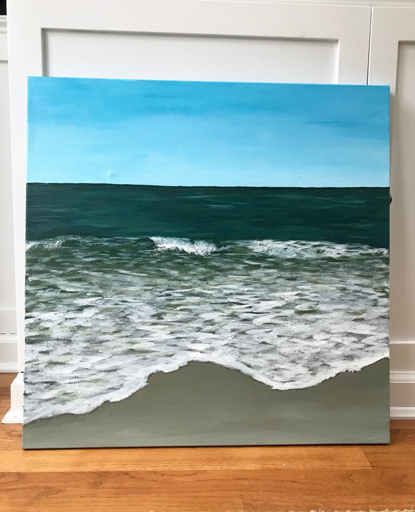 More Confidence with Acrylics on Canvas | tips on painting seascapes