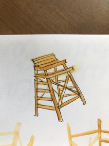 Lifeguard chair illustration