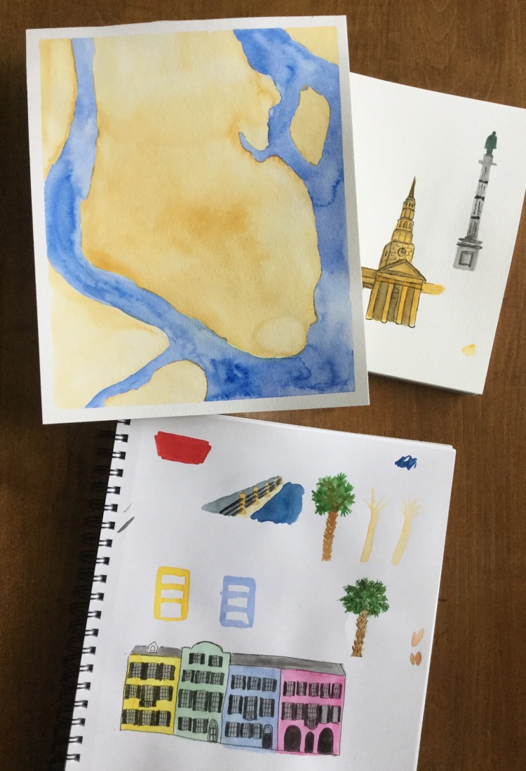Illustrated map making #the100dayproject Charleston