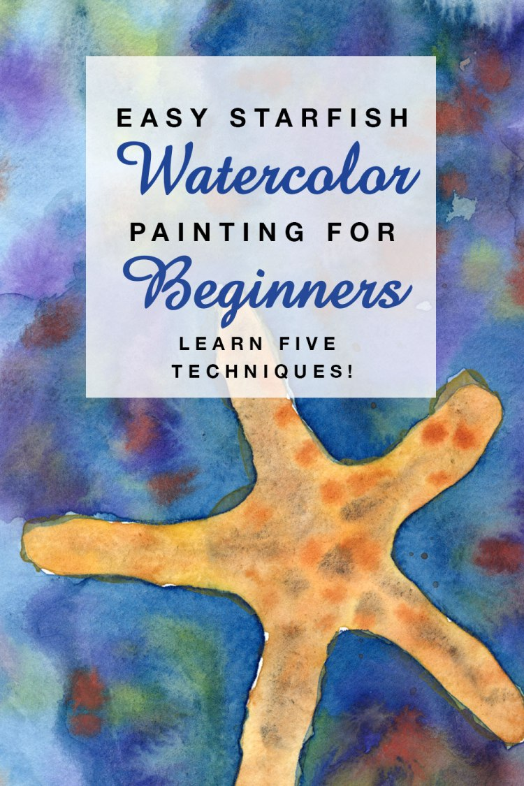 Easy Starfish Watercolor Painting for Beginners | Learn Watercolor Techniques