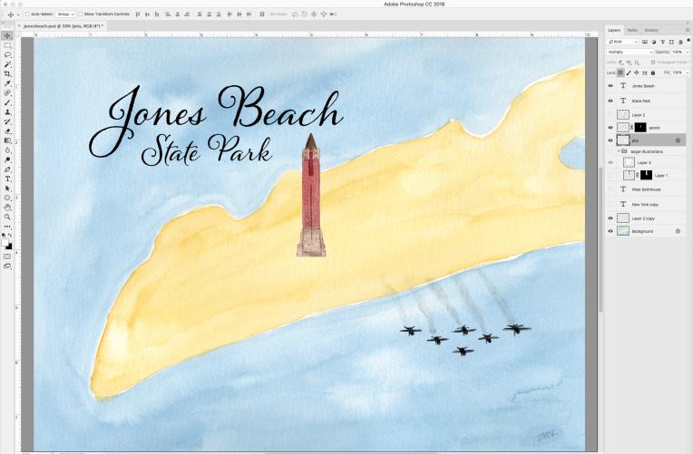 work in progress Jones Beach State park map