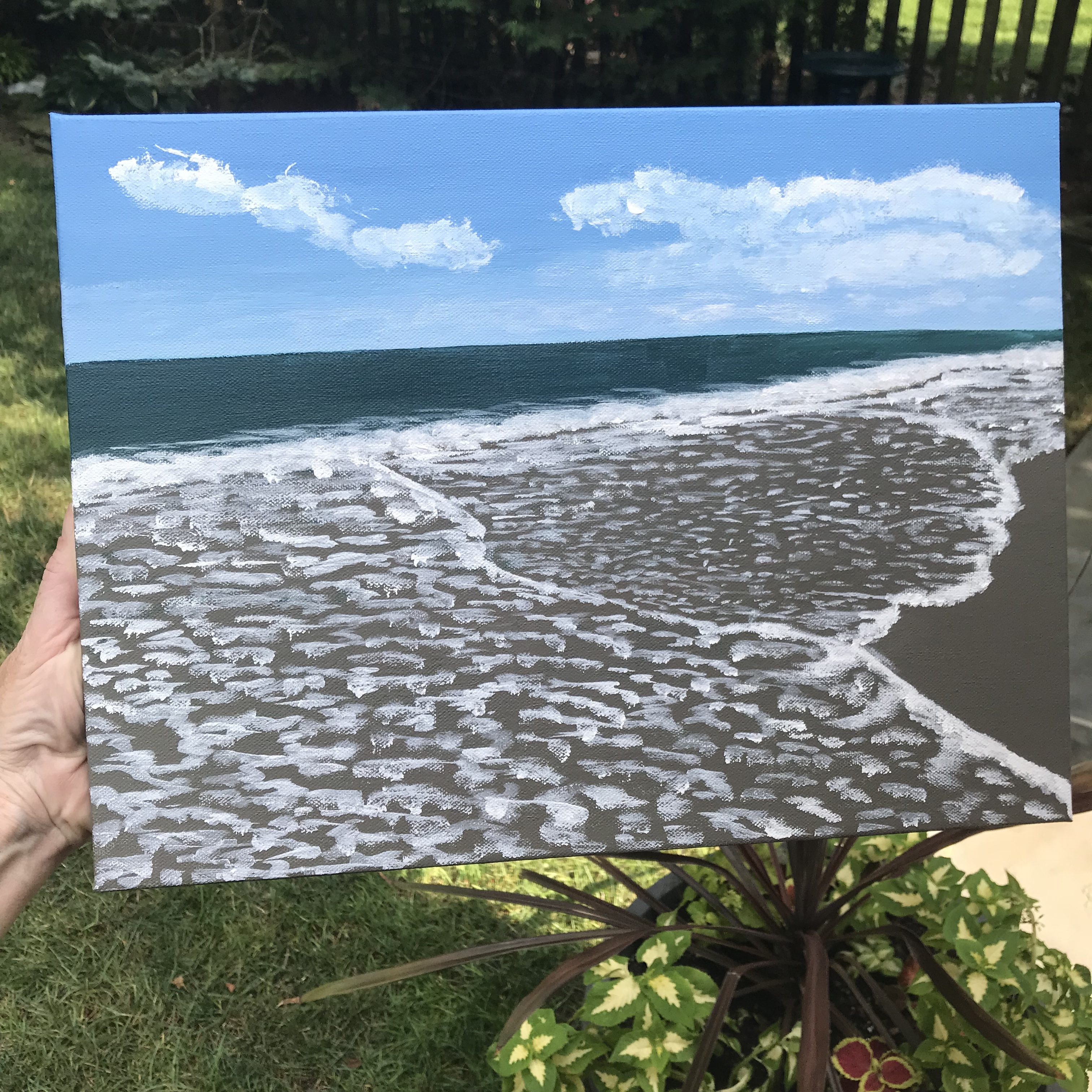 Acrylic seascape painting by Eileen McKenna