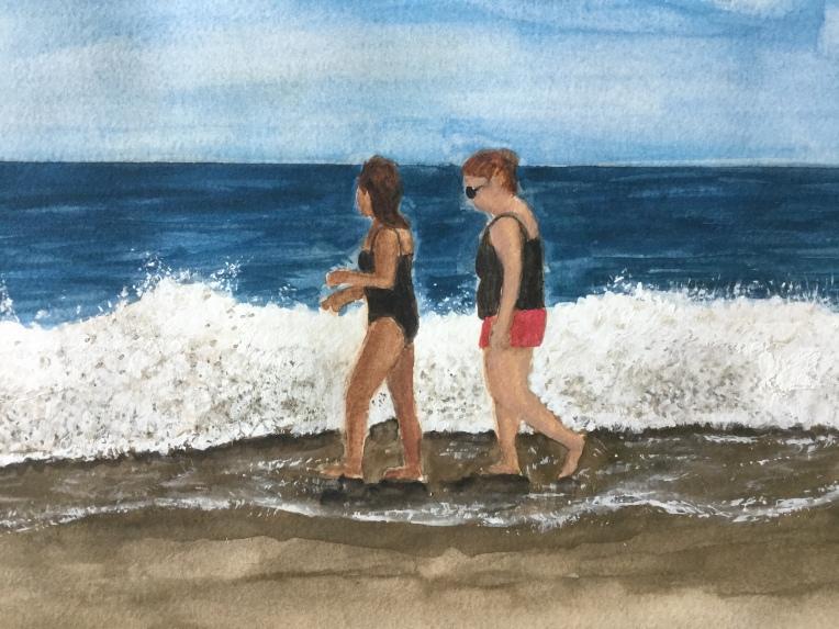 Painting figures in watercolor