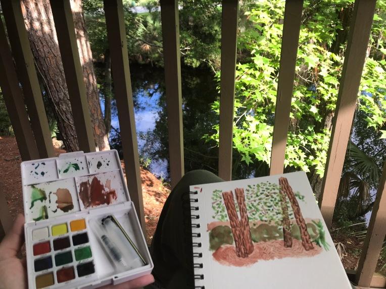 Watercolor travel palette | regular creativity