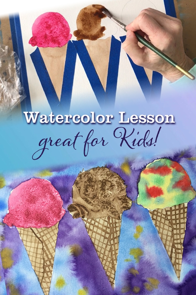 Watercolor art lesson for  kids | fun quarantine activity  |  watercolor lesson for beginners | how to paint in watercolor
