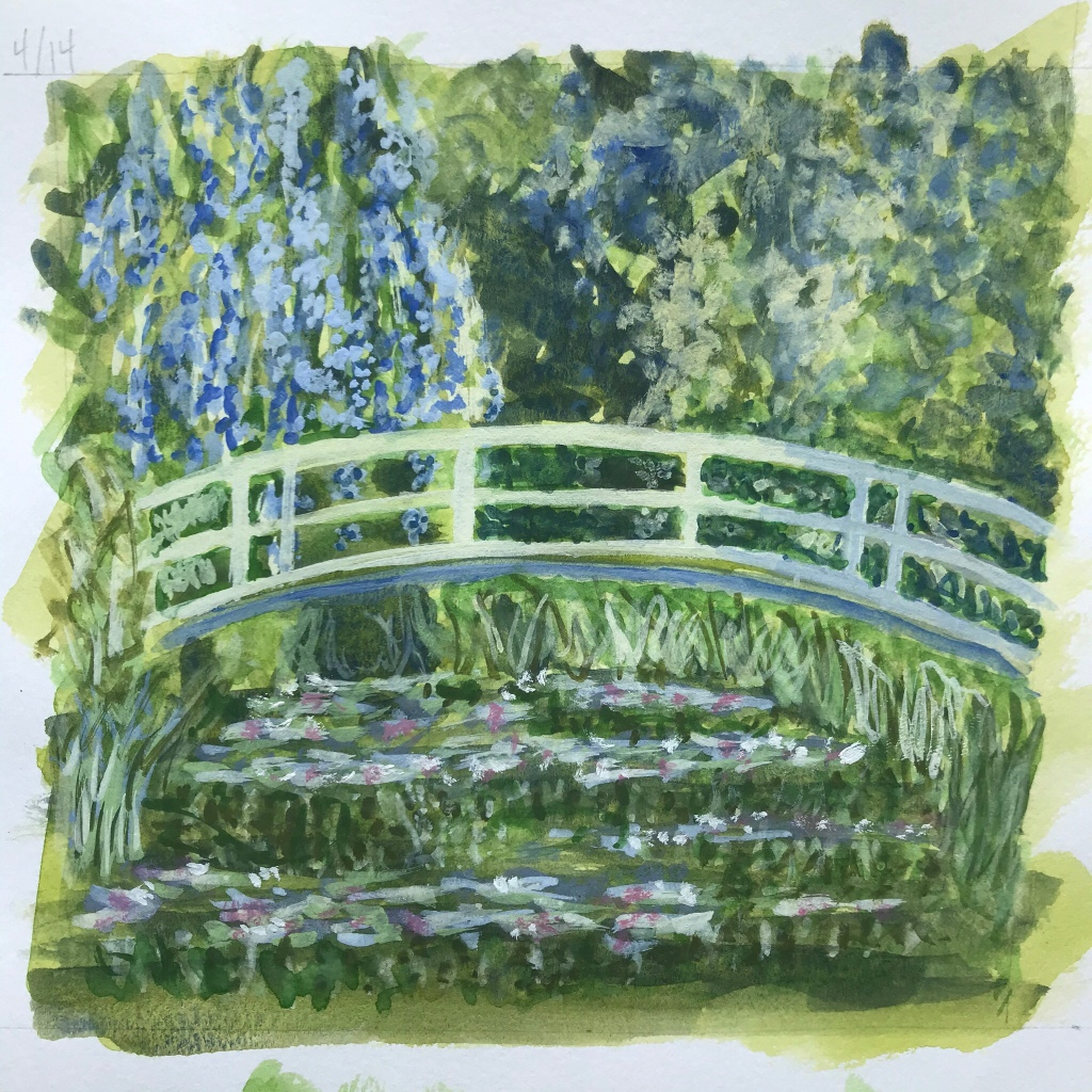 Monet inspired watercolor by Eileen McKenna
