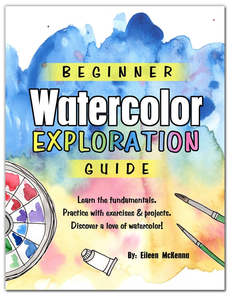 Beginner Watercolor Exploration Guide | learn watercolor with this downloadable pdf