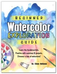 Beginner Watercolor Exploration Guide pdf download | how to guide beginner watercolor