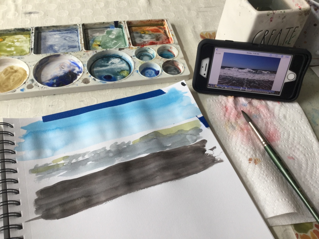 Back to painting in watercolor