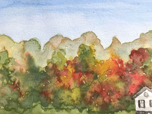 paint fall in Watercolor Tutorial downloadable pdf