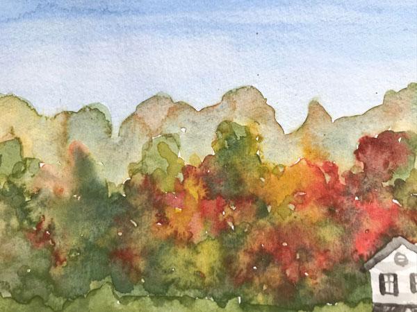 paint fall in Watercolor Tutorial downloadable pdf
