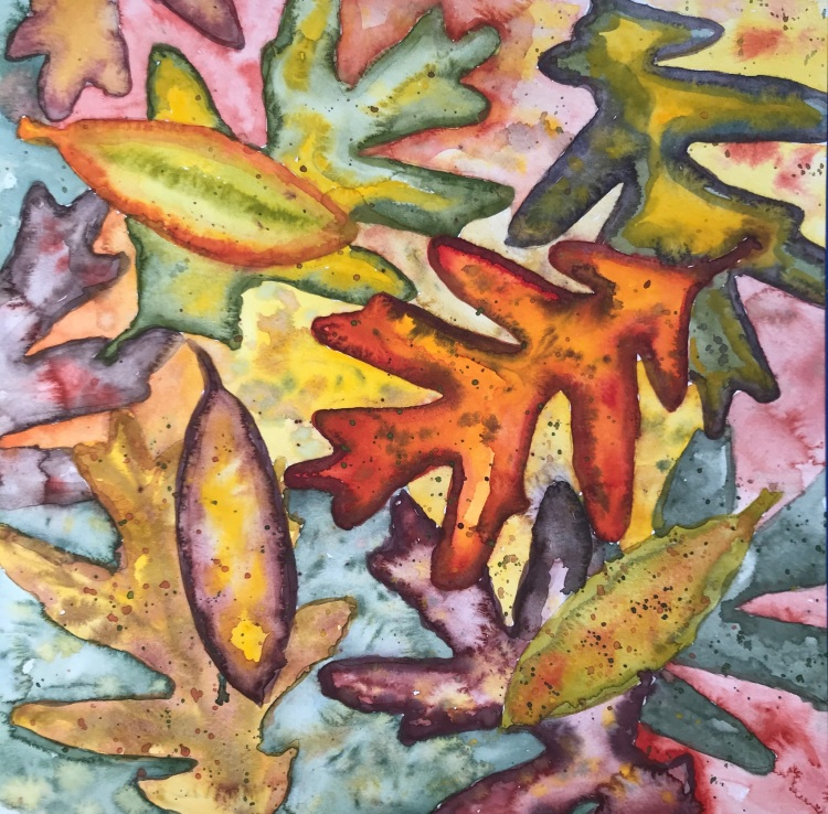 Fall Leaves in Watercolor by Eileen McKenna