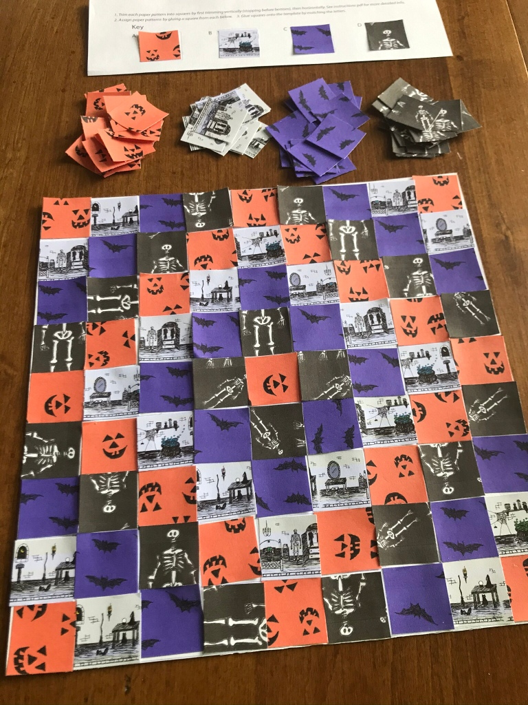 Printable Halloween Paper Quilt Making Kit