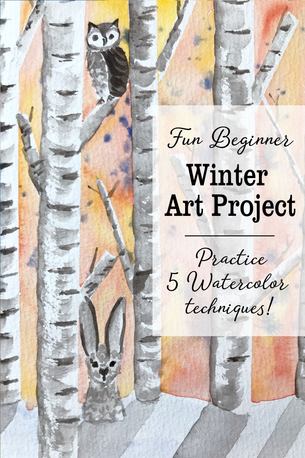 Fun Beginner Winter Art Project Learn Watercolor Kid Art