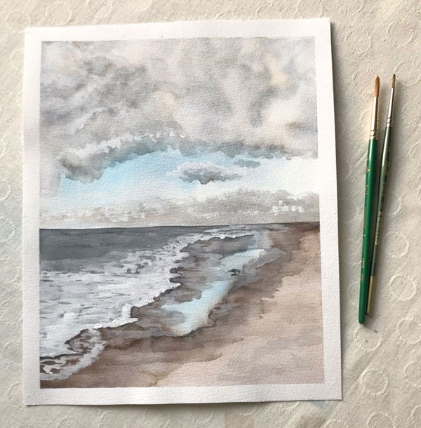Watercolor Seascape by Eileen McKenna