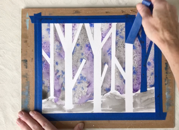 Beginner Watercolor Lesson Birch Forest
