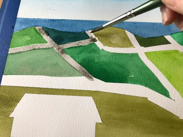 Painting an Irish Landscape in Watercolor