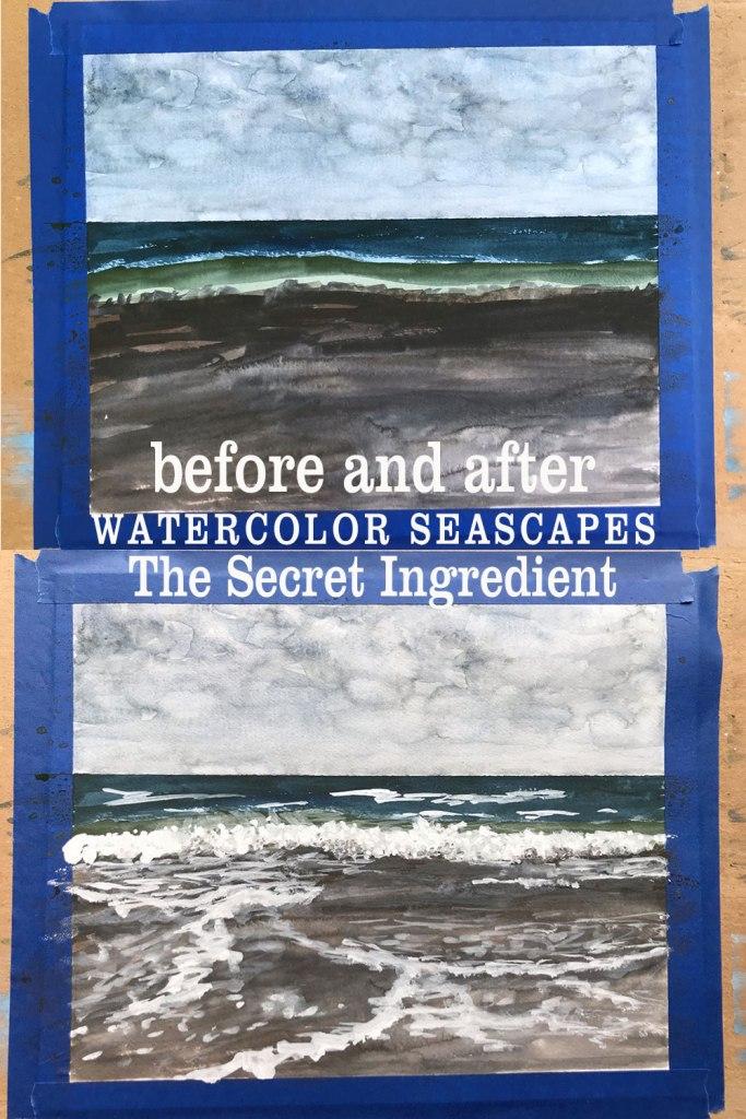 Watercolor Seascapes - the secret ingredient